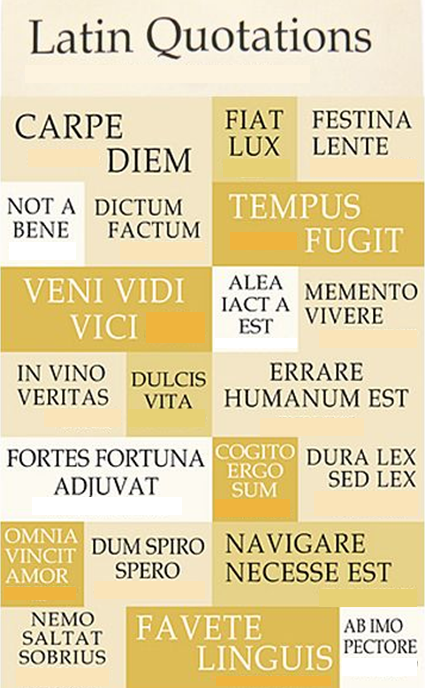 Latin Quotations Classics Department Adorable Latin Quotes
